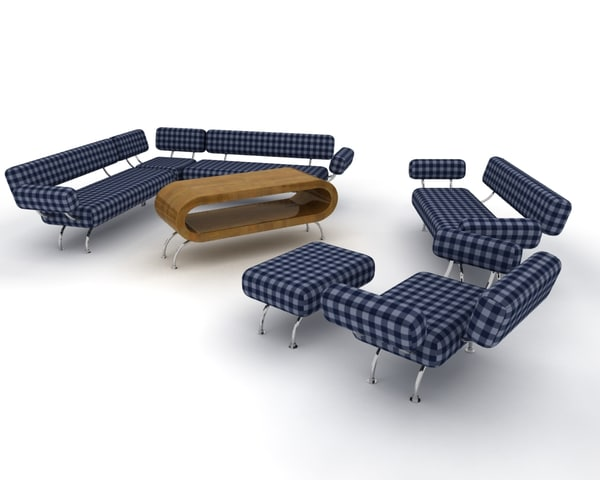 3d sofa set contemporary model