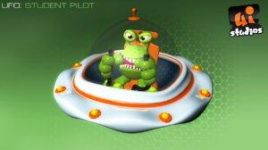 3d toon ufo model