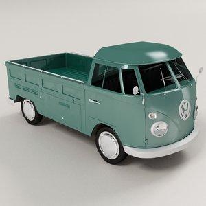 volkswagen type 2 pickup 3d model