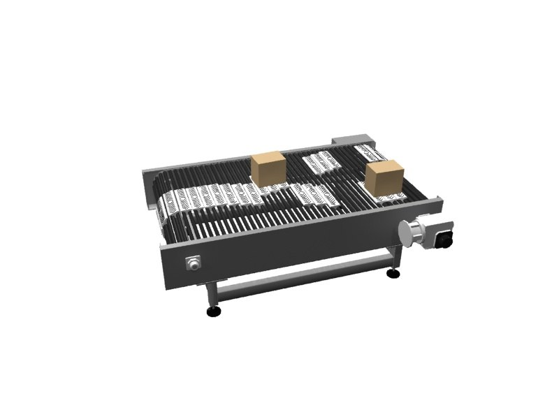 3dsmax zipper conveyor