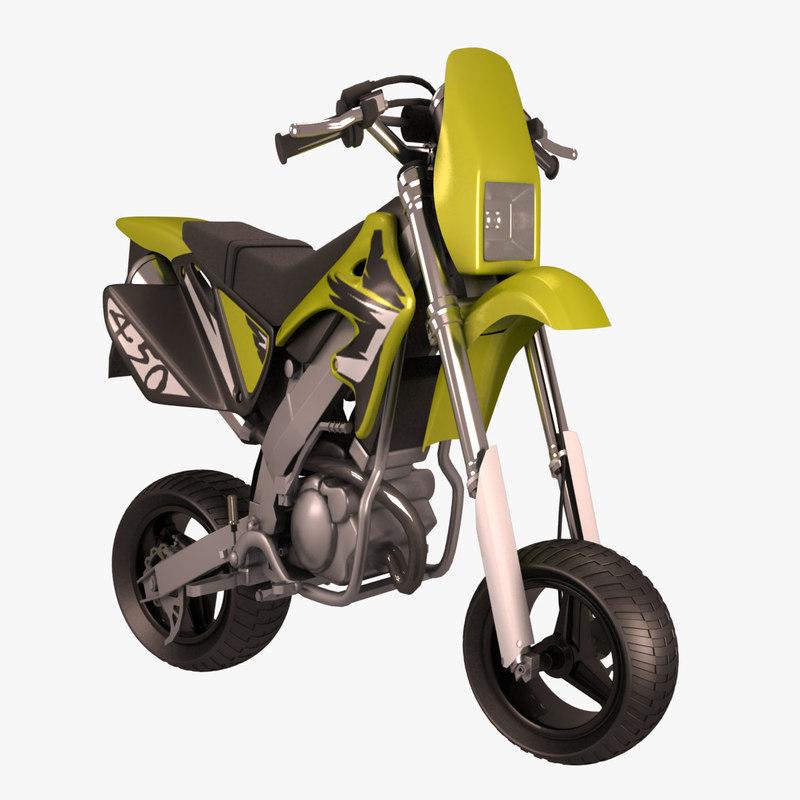 mini motocross bike 3d model. Black Bedroom Furniture Sets. Home Design Ideas