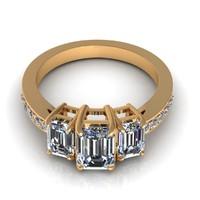 diamond engagem engagement 3d model
