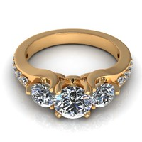 model diamond ring