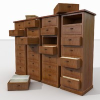 Simple Wooden office Document Cabinet archive files record repository ID paper identity