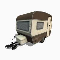 caravan trailer 3d max