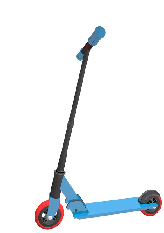 3d model scooter