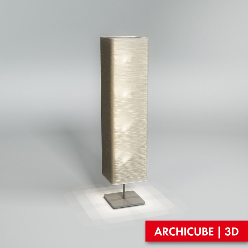 3d model floor lamp