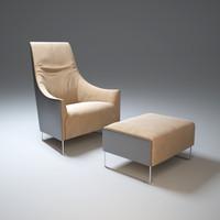 3d model ascot-armchair chair