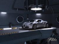 Alfa 4C + garage