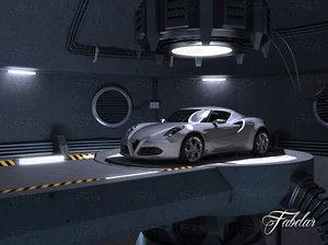 alfa romeo 4c garage obj