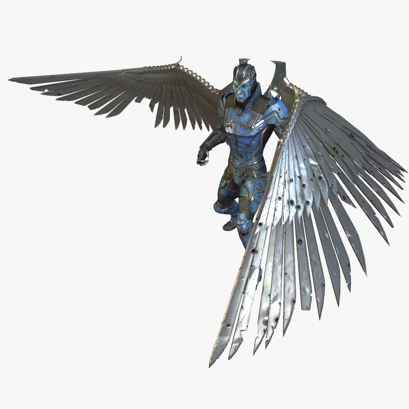 3d model character comicon 2014 angel wings