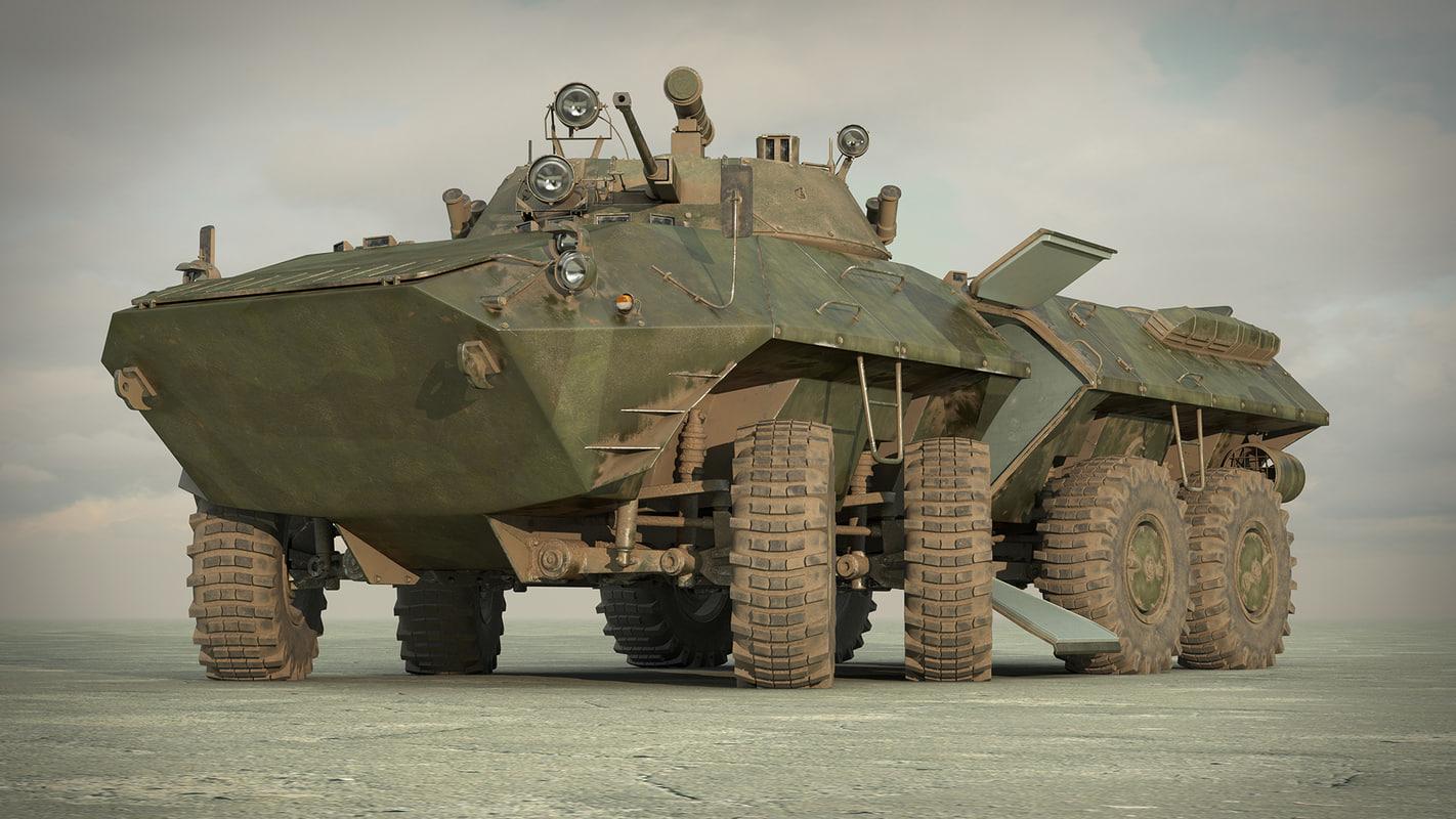 3d model of btr-90 rostok apc