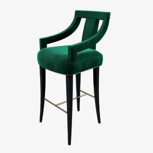 brabbu eanda bar chair 3d model