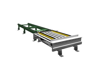 3d transfer roller conveyor drag model