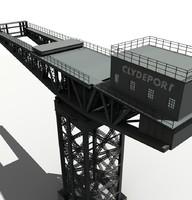 3d finnieston crane glasgow secc model