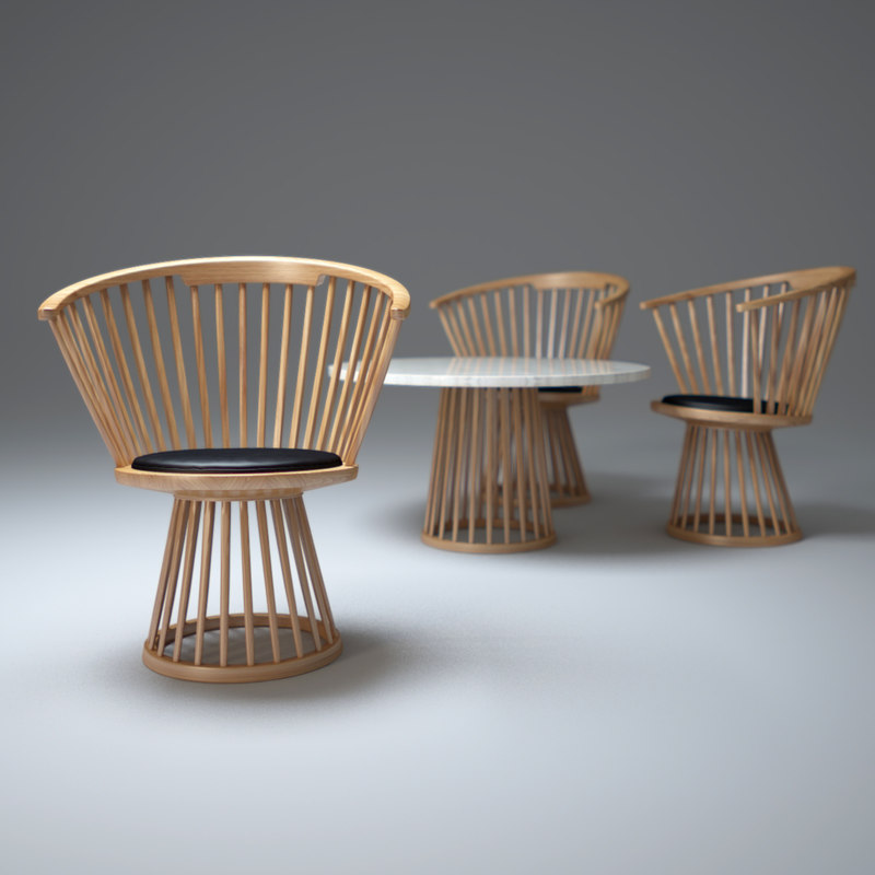 3ds max fan-dining-chair