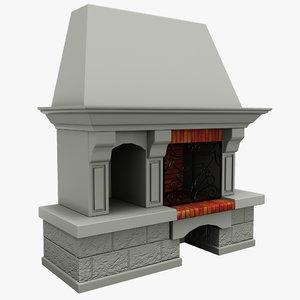 fireplace 9 3d model
