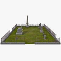 3d graveyard grass