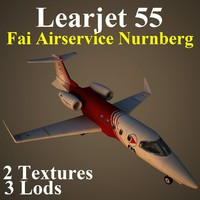 3d learjet 55 ifa model