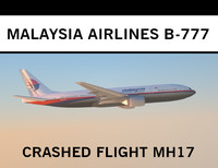 3ds max malaysia airlines mh17