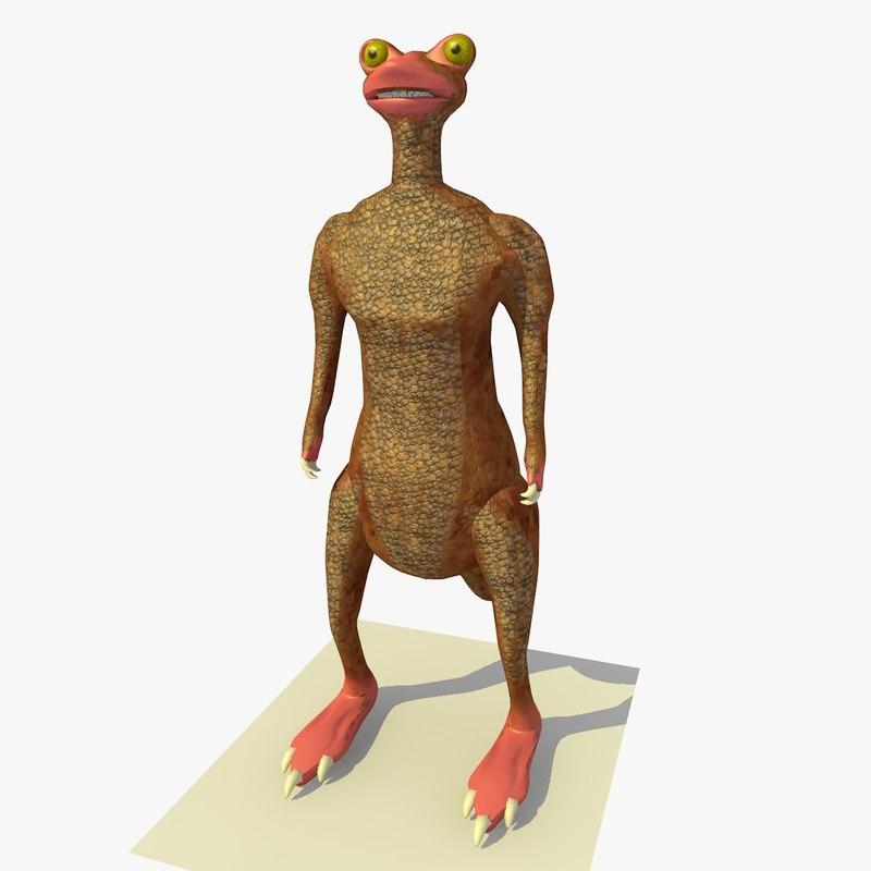 3d mutant kangaroo frog alien