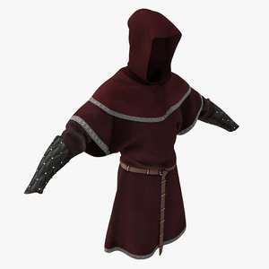 3d medieval clothes 4 model