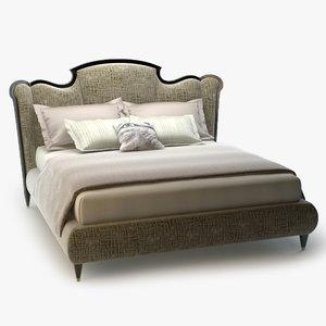3d bizzotto montmartre bed model