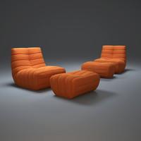 oruga-sofa 3d max