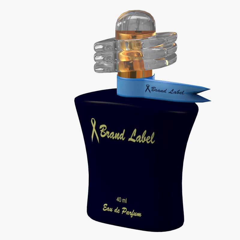 3d visualizing feminine perfume bottle model