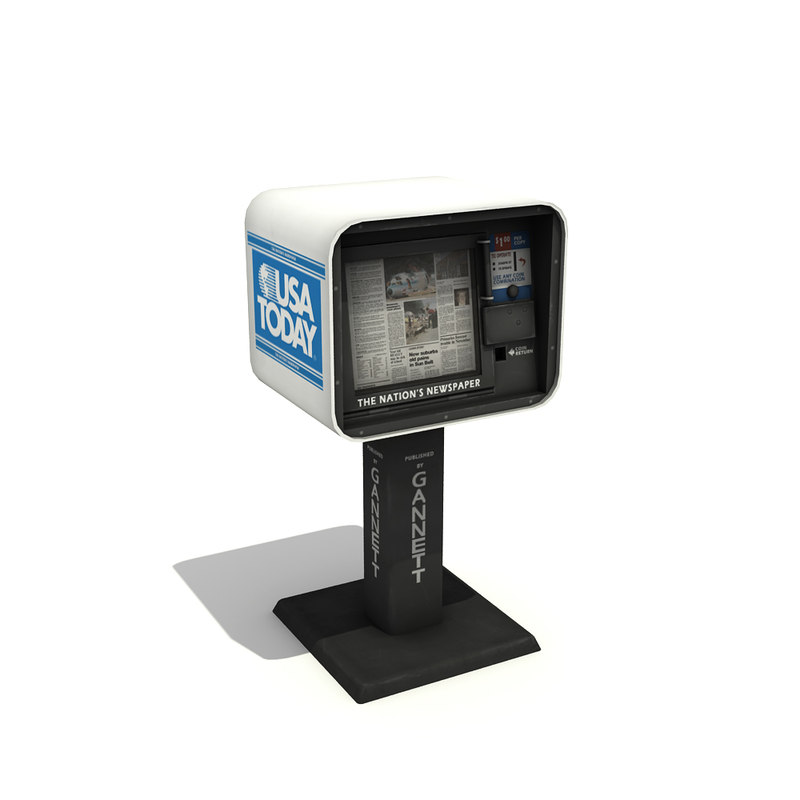 newspaper vending machine 3d 3ds