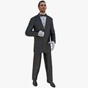 waiter 3D models