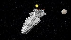 spaceship ship space 3d model