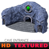 cave entrance face stone