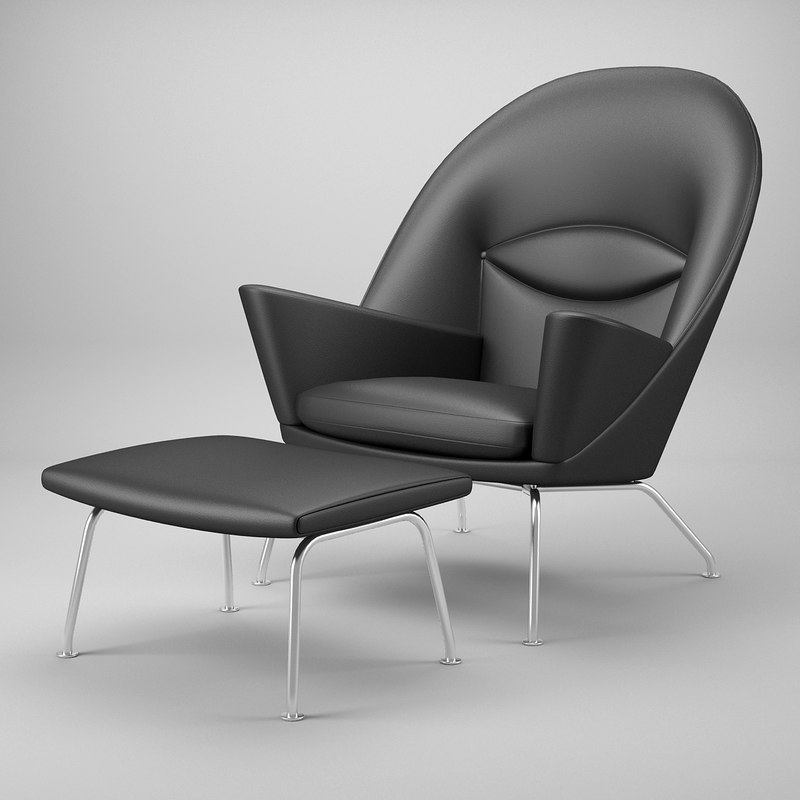 oculus chair ch468 footrest 3d dwg