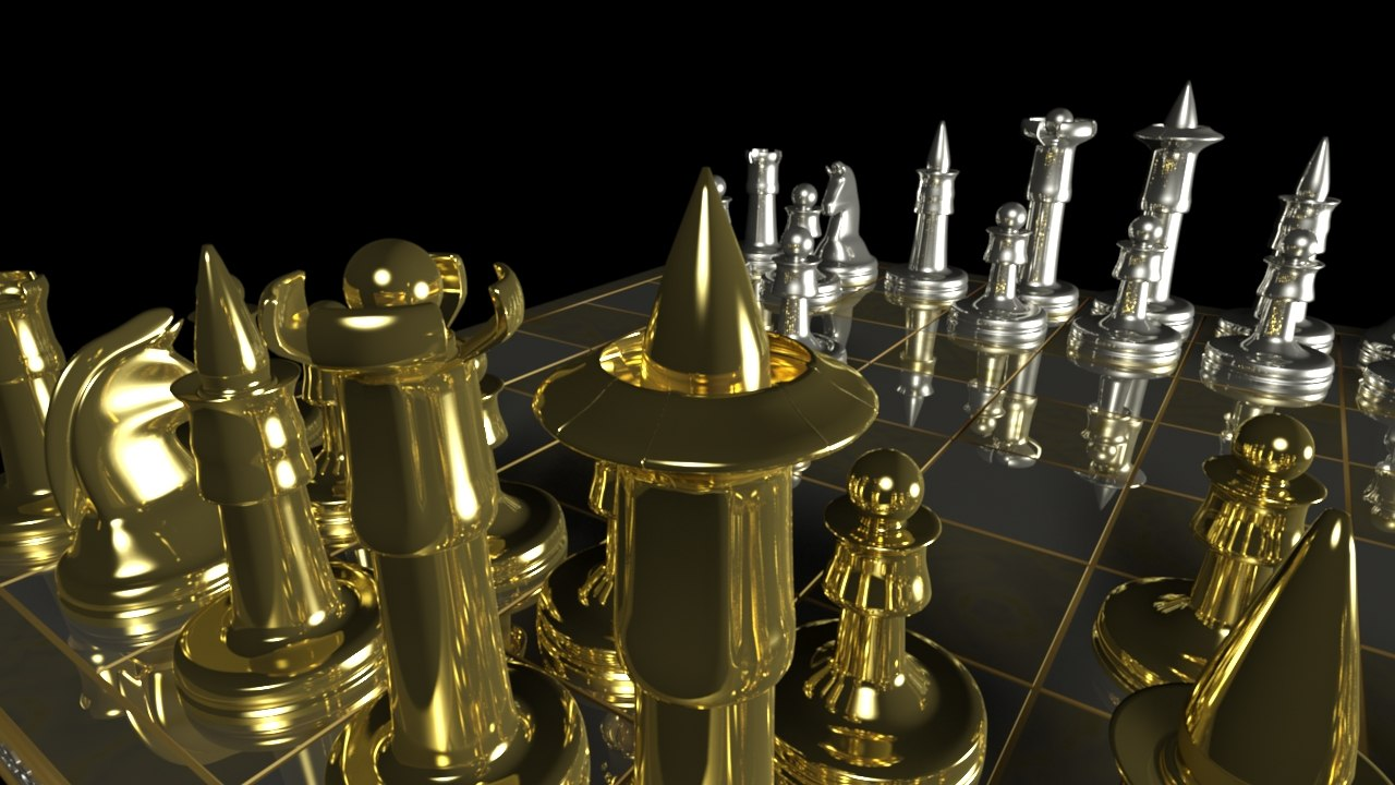 3d model of chess