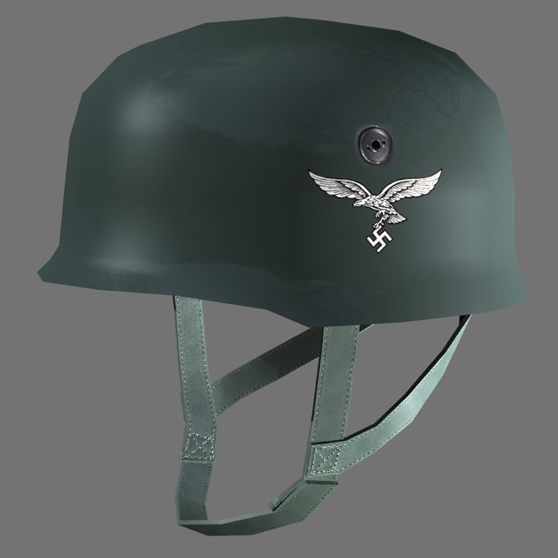 german fallschirmjager helmet 3d model