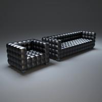 3d hoffmann-josef-sofa