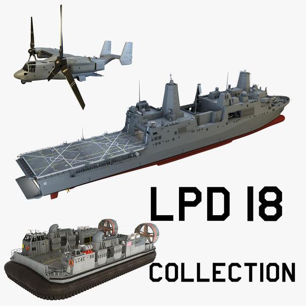 3d uss new lpd-18 model