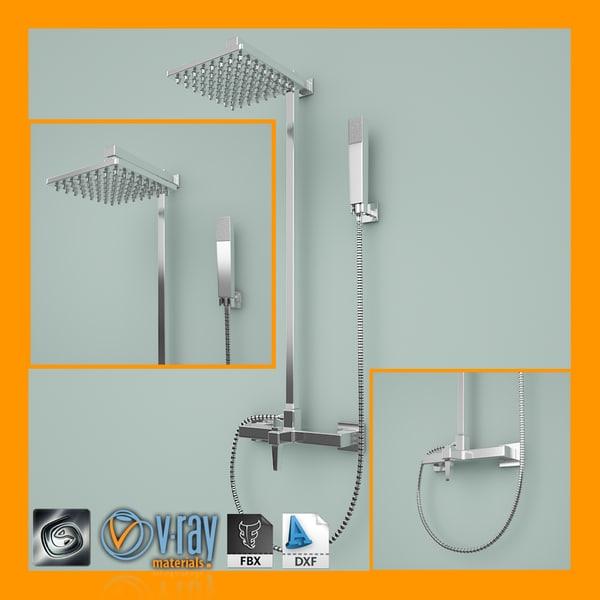 shower 1 3d model