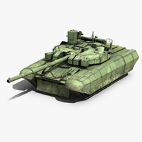 ukrainian battle tank oplot 3d model