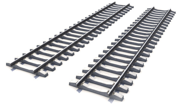 3d model railway path