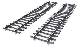 3d model railway path