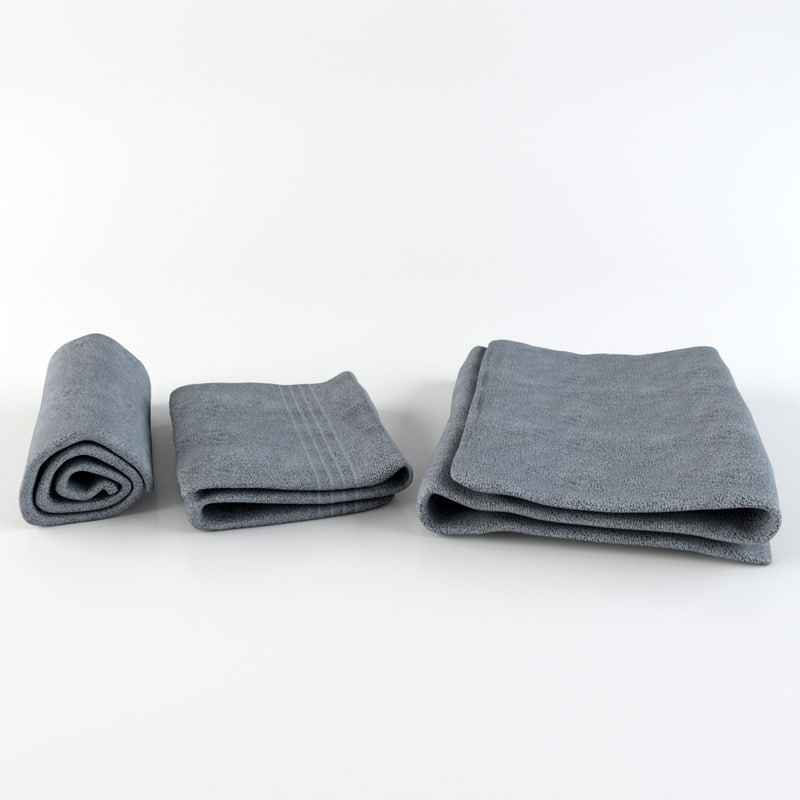 3d model towel set