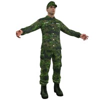 3d model sergeant soldier