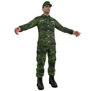 3d model sergeant soldier