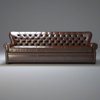 3dsmax 9 -churchill-leather-sofa