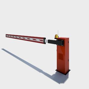 access barrier 3d model