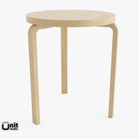 wood artek table 90c 3d 3ds