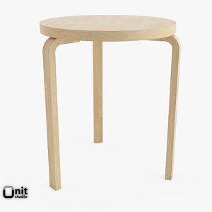 artek table 90c alvar aalto 3d max