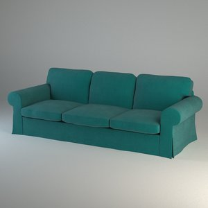 ektorp three-seat sofa 3d 3ds